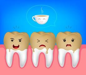 Кофе делает зубы темнее